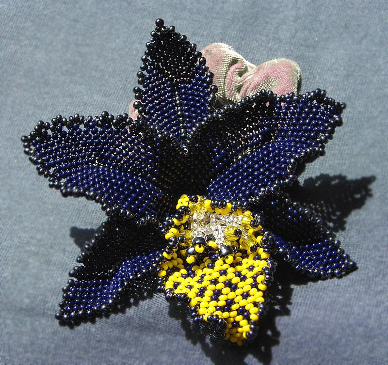 Цветы из бисера орхидея схема фото 788