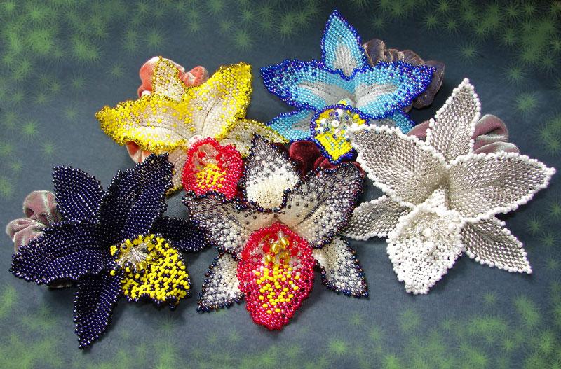 Инструкции плетения цветов из бисера