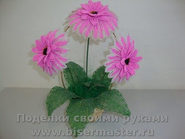 Бисер цветы схемы мастер класс