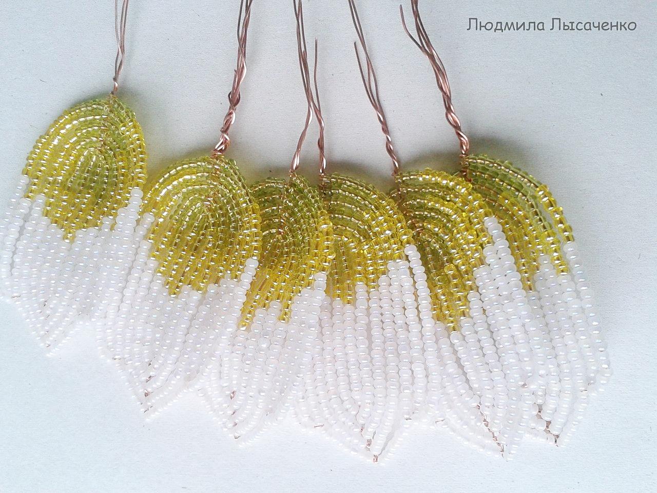 Лилия из бисера параллельное плетение мастер класс