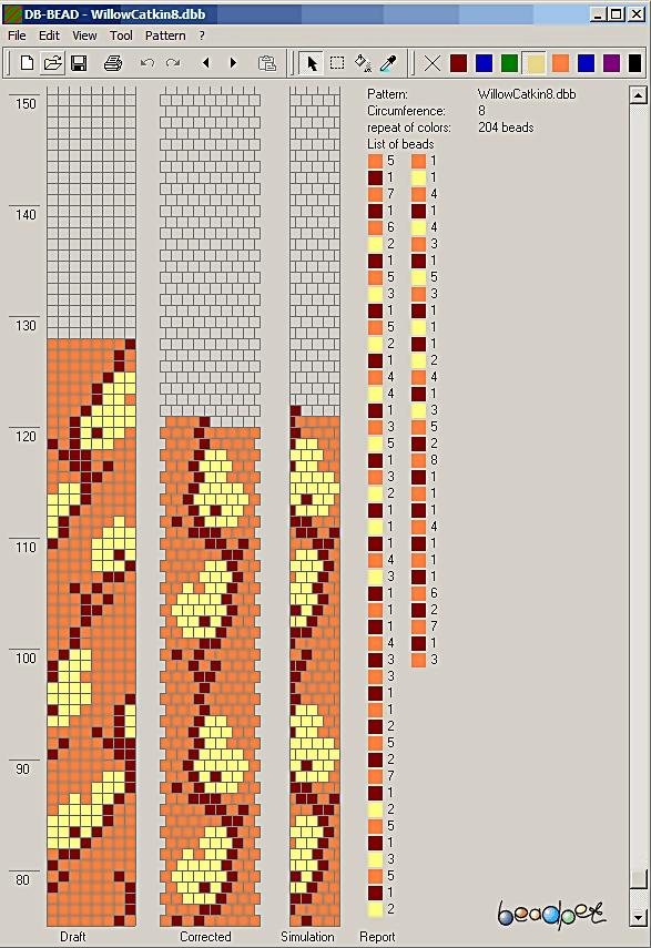 жгуты из бисера схемы вязаные