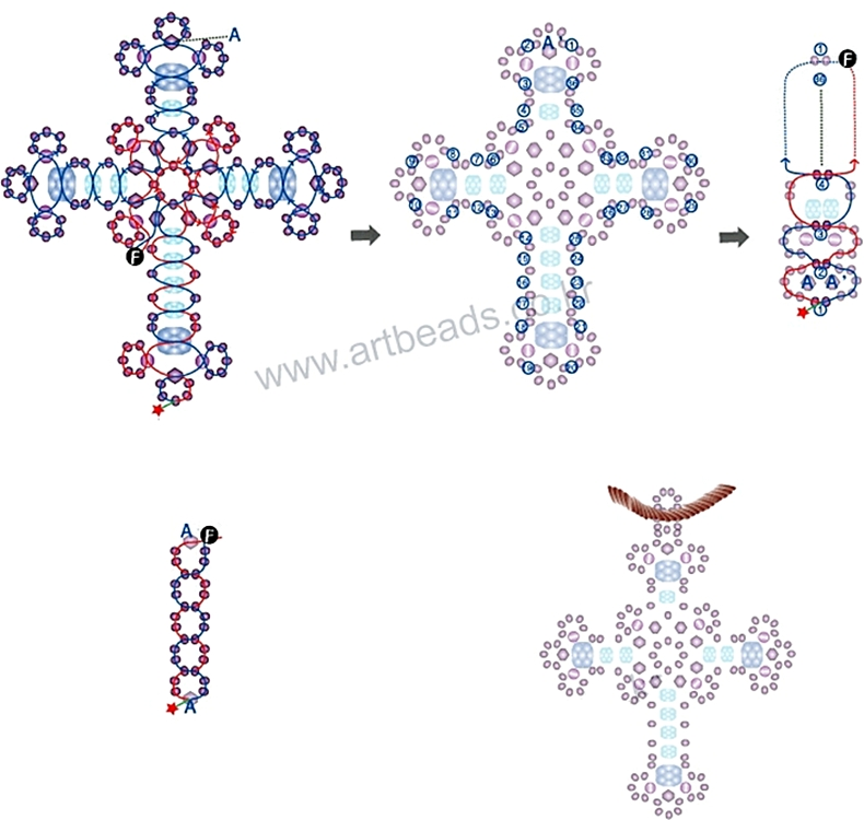 вида плетения крестиков из